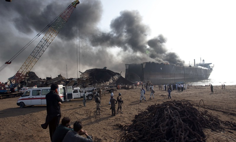 Explosions at Gadani Shipbreaking Yard